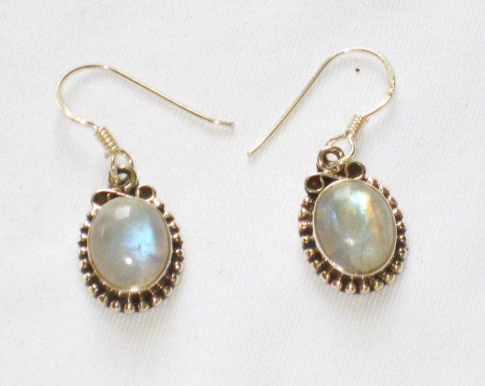 ER100       Moonstone Earrings in Sterling Silver