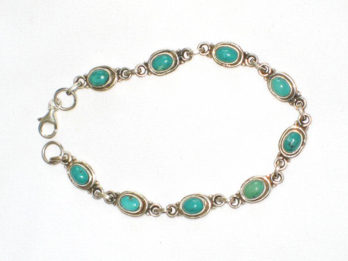 ST621 Turquoise Bracelet in Sterling Silver