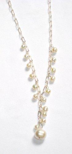 ST331  Pearl Bracelet  and Earrings Set in Sterling Silver
