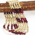 ST265 Garnet Bracelet in Sterling Silver
