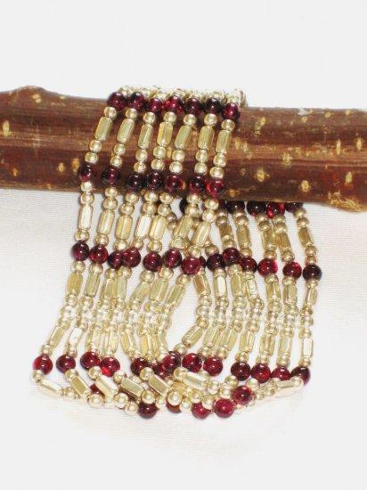 ST273 Garnet Bracelet in Sterling Silver