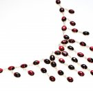 ST372 Garnet Necklace in Sterling Silver