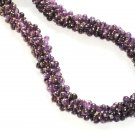 ST352      Amethyst Necklace in Sterling Silver