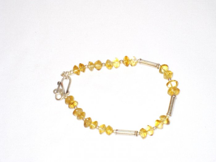 ST174 Citrine Bracelet in Sterling Silver