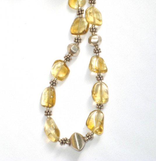 ST344 Citrine Necklace in Sterling Silver