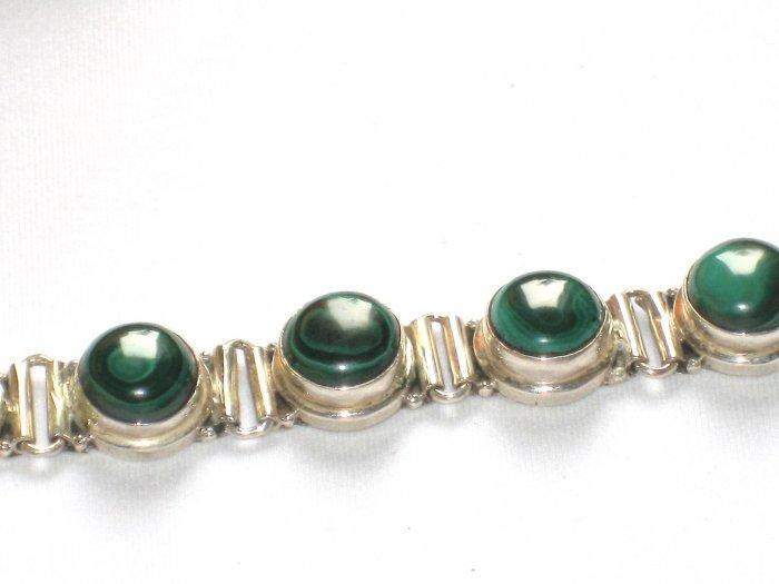 ST153 Malachite Bracelet in Sterling Silver