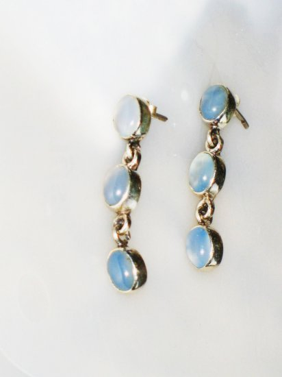 ER028 Chalcedony Earrings in Sterling Silver