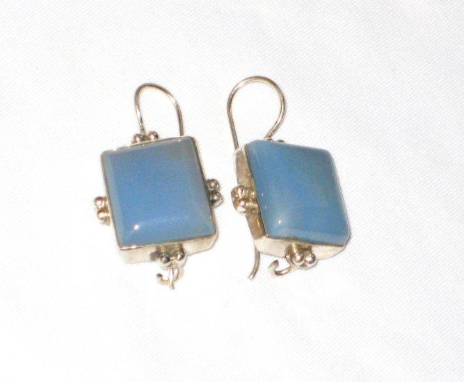ER032 Chalcedony Earrings in Sterling Silver