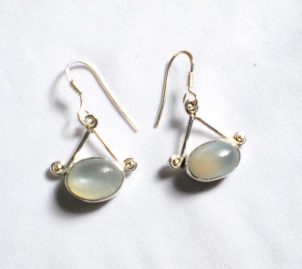 ER041 Chalcedony Earrings in Sterling Silver