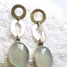 ER085 Chalcedony Earrings in Sterling Silver