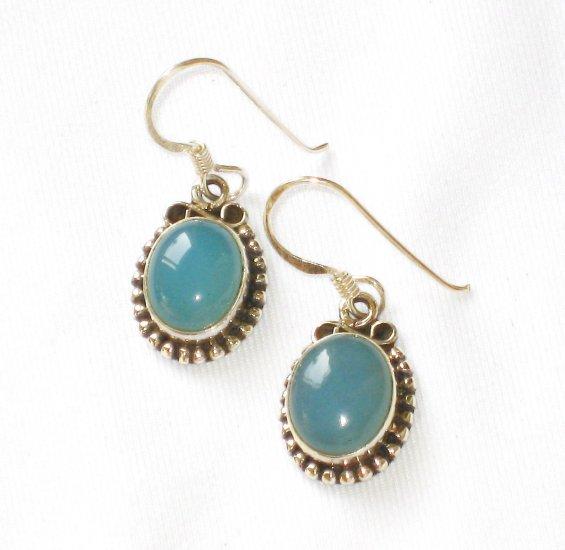 ER097 Chalcedony Earrings in Sterling Silver - SOLD
