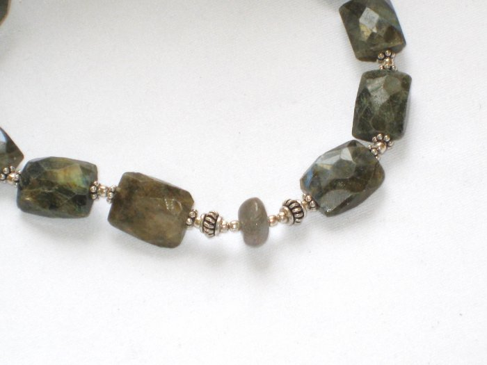 ST075 Labradorite Necklace in Sterling Silver