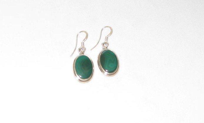 ER005 Malachite Earrings in Sterling Silver