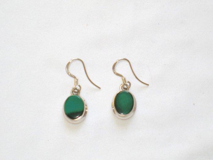 ER007 Malachite Earrings in Sterling Silver