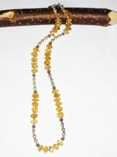 ST510 Citrine Necklace in Sterling Silver