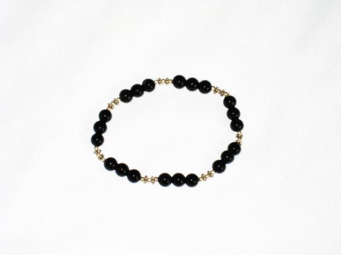 ST665 Onyx Bracelet in Sterling Silver