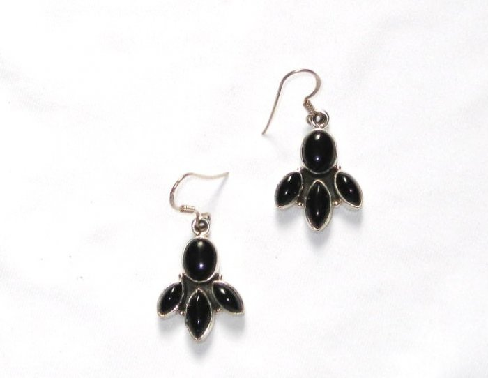 ER045 Onyx Earrings in Sterling Silver