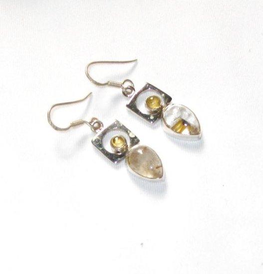 ER048 Amber Earrings in Sterling Silver