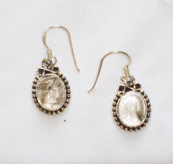 ER099 Amber Earrings in Sterling Silver