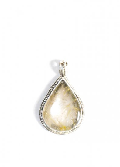 PN236 Amber Pendant in Sterling Silver