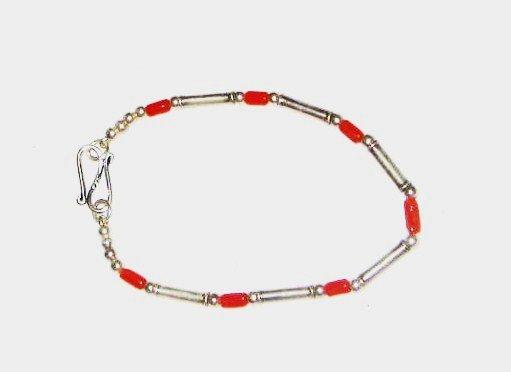 ST502 Coral Bracelet in Sterling Silver