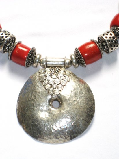 ST027 Coral Necklace in Sterling Silver