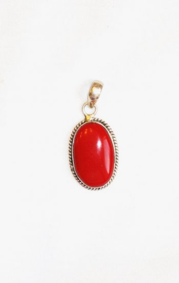 PN074 Coral Pendant in Sterling Silver