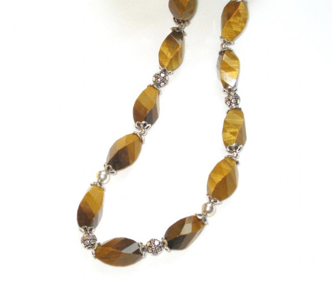 ST365 Tiger's Eye Necklace in Sterling Silver