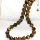 ST304 Tiger's Eye Necklace, Bracelet and Earrings Set in Sterling Silver