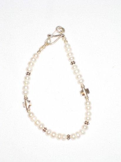 ST177  Pearl Bracelet in Sterling Silver