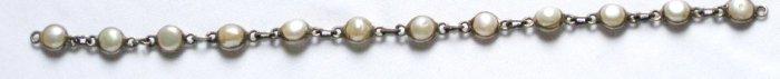 ST022  Pearl Bracelet in Sterling Silver