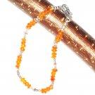ST507 Carnelian Bracelet in Sterling Silver