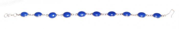 ST419 Lapis Lazuli Bracelet in Sterling Silver