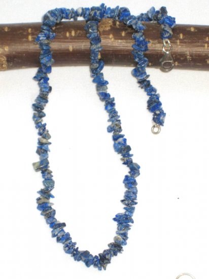 ST316 Lapis Lazuli Necklace and Earrings Set  in Sterling Silver