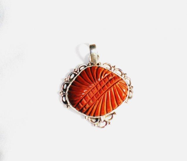 PN141 Carved Carnelian Pendant
