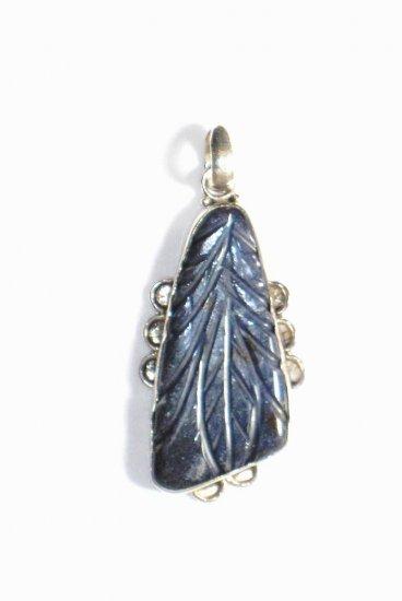 PN201 Carved Lapis Lazuli Pendant