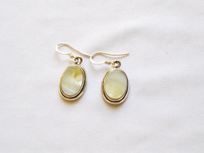 ER006 Mother of Pearl Earrings in Sterling Silver
