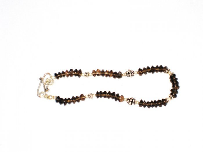 ST173    Smoky Quartz Bracelet set in Sterling Silver