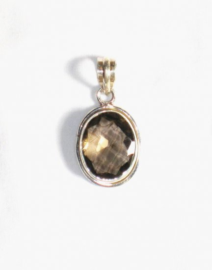 PN205 Smoky Quartz Pendant in Sterling Silver
