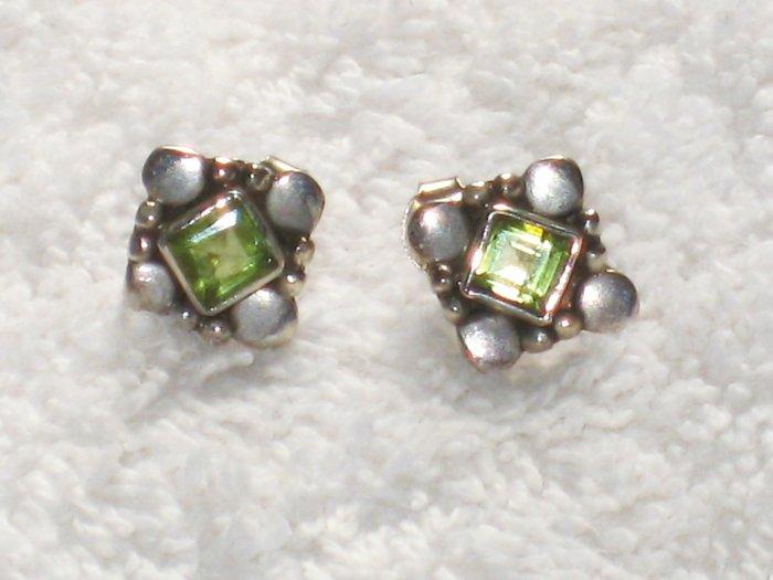 ER063 Peridot Earrings in Sterling Silver
