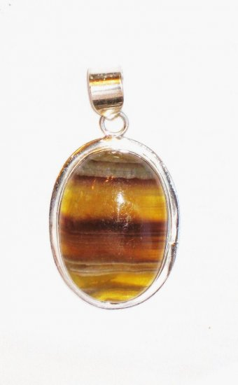 PN099 Agate Pendant in Sterling Silver