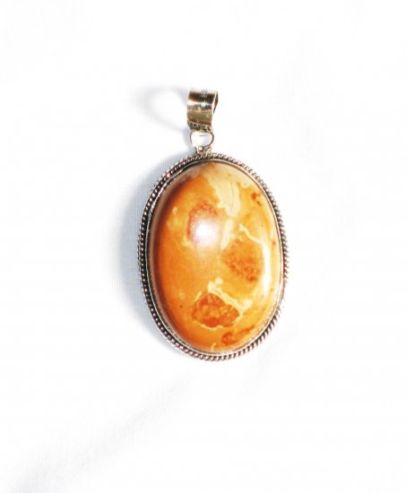 PN135 Agate Pendant in Sterling Silver