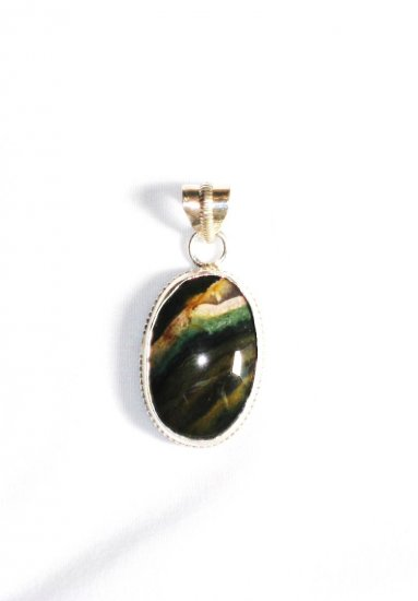 PN212 Agate Pendant in Sterling Silver