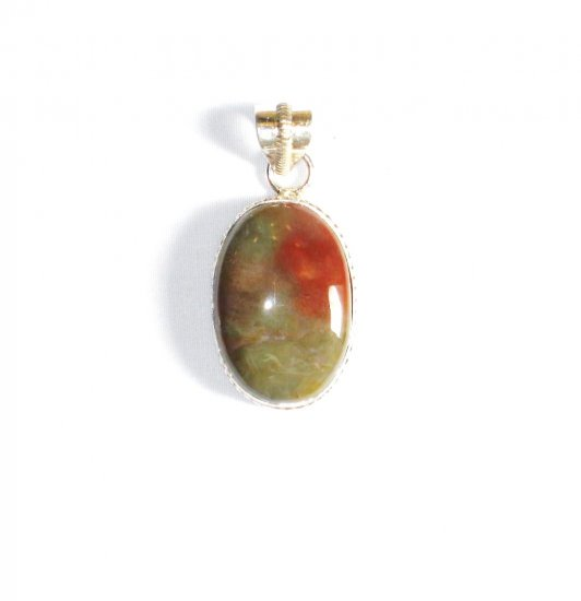 PN234 Agate Pendant in Sterling Silver