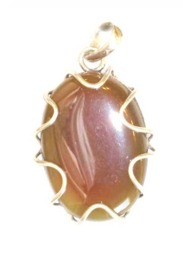 PN461 Agate Pendant in Sterling Silver