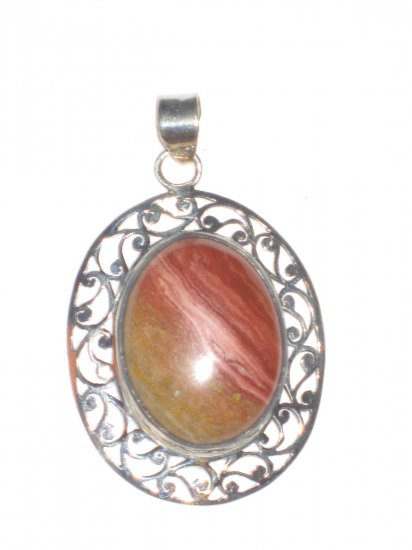 ST417 Agate Pendant in Sterling Silver