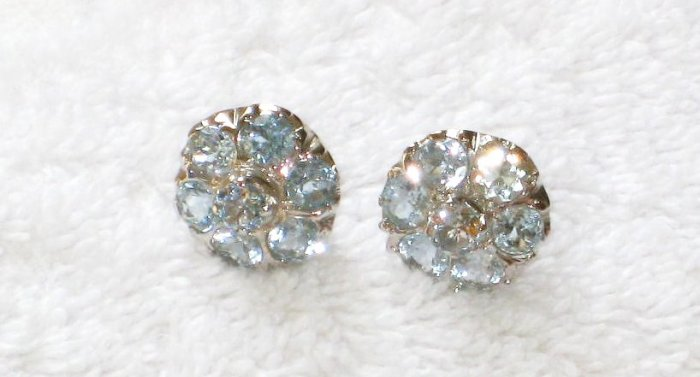 ER093 Blue Topaz Earrings set in sterling silver