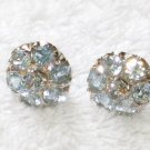 ER093 Blue Topaz Earrings set in sterling silver