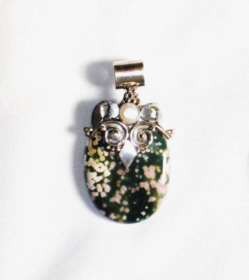 PN181     Dalmation Jasper Pendant in Sterling Silver
