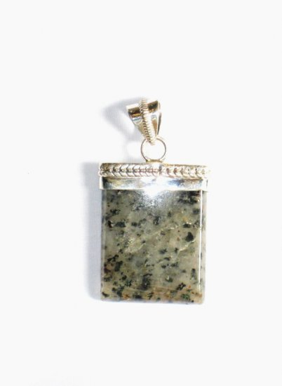 PN199     Dalmation Jasper Pendant in Sterling Silver